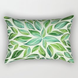 Spring Leaf Mandala Rectangular Pillow