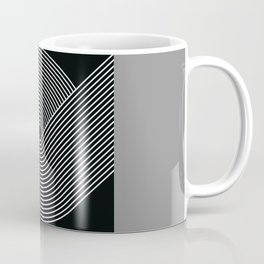 Geometric Lines in Black and White 2 Coffee Mug
