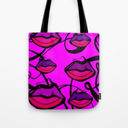 Purple KiSseS Tote Bag