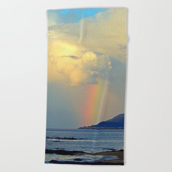 Storm Drops a Rainbow onto Village Beach Towel