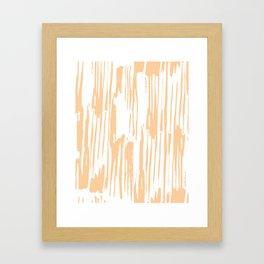 Modern Coral Stripes IV Framed Art Print