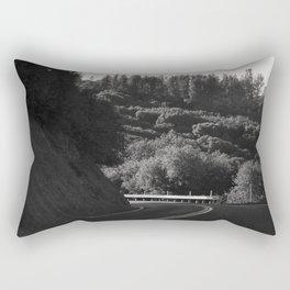 Wine Country Mountain Driving Rectangular Pillow