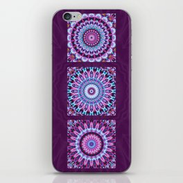 Mandala Collage violett iPhone Skin