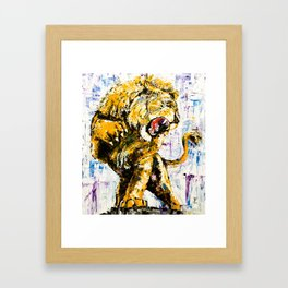 Carmine the Lion Framed Art Print