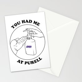 You had me at Purell Stationery Cards