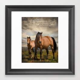 Don't be the Afraid Framed Art Print