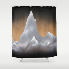 Snowcapped Mountains Shower Curtain