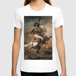 "Théodore Géricault ""Officer of the Chasseurs charging on horseback"" T-shirt"