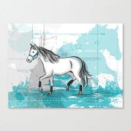 trotting horse Canvas Print
