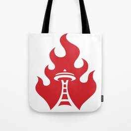 Seattle Riot | Flame Tote Bag