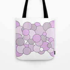 Bubbles - purple, gray and white. Tote Bag