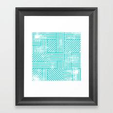 Turquoise Stripes Framed Art Print