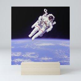 Astronaut on a Spacewalk Mini Art Print