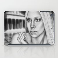 versace iPad Cases featuring VERSACE - drawing by Davy Oldenburg by Davy Oldenburg