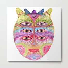 kindly expressed kind of kindness mask Metal Print