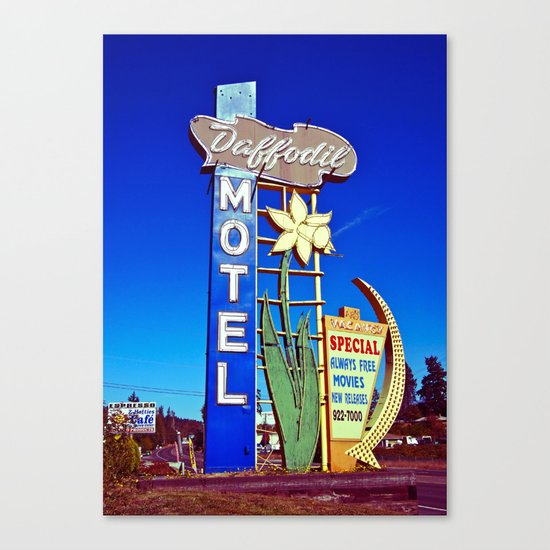 Daffodil Motel sign Canvas Print