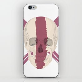 Skull with bloody streak on his face iPhone Skin