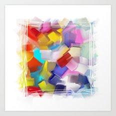 abstract brush Art Print