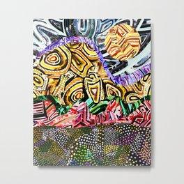 Opposites Attract Landscape Metal Print
