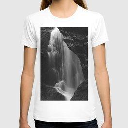 Black and white waterfall long exposure T-shirt