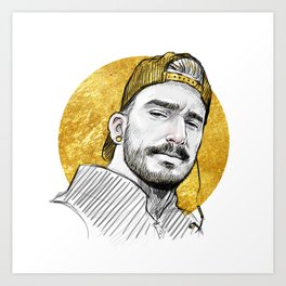 Gold Hat Art Print