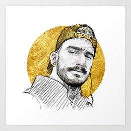 Gold Hat Art Print