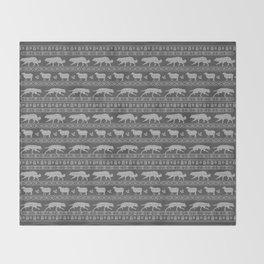 Ugly christmas sweater | Border collie grey Throw Blanket