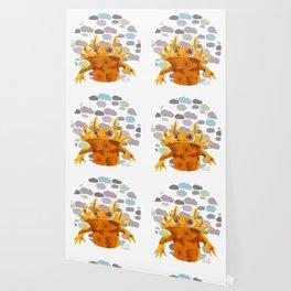 Bubbles Axolotl Wallpaper