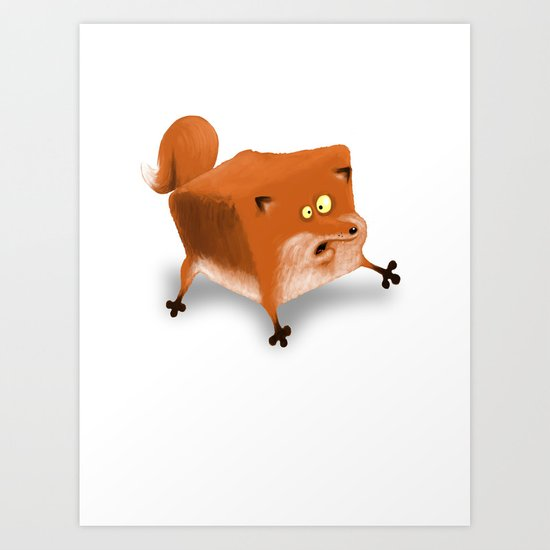 Box in a Fox Art Print