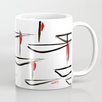 boats Mugs featuring Boats by Elly F