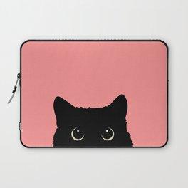 Sneaky black cat Laptop Sleeve