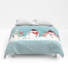 Snowman Winter Wonderland Comforters