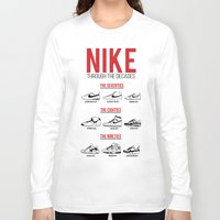 nike Long Sleeve T-shirts featuring Nike Through the Decades  by halmills