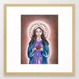 The Immaculate Heart of Mary Framed Art Print