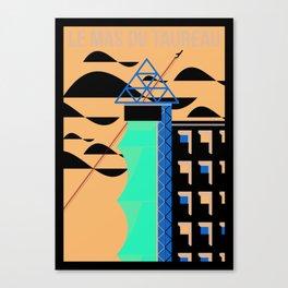 La Tour d'escalade du Mas du Taureau Canvas Print