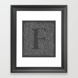 Light Letter F Framed Art Print