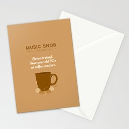 Coffee Coasters — Music Snob Tip #184 Stationery Cards