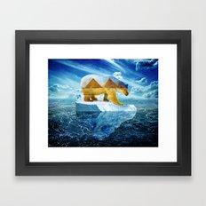 A Polar Bear Dreams of the Desert Framed Art Print