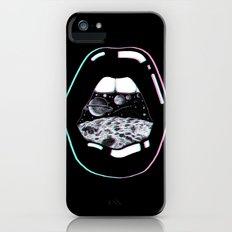 Space Lips Black Slim Case iPhone SE