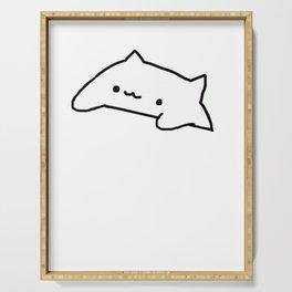 Bongo Cat Meme Serving Tray