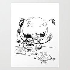test taking machine 02 Art Print