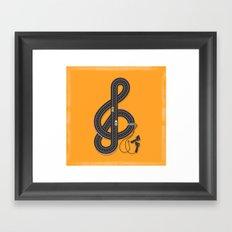 Sound Track Framed Art Print