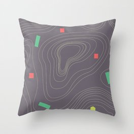 Map land color pattern Throw Pillow