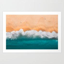 Bondi Beach Morning Walk Art Print