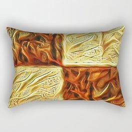Checkered Chestnuts Rectangular Pillow