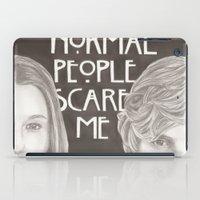 kris tate iPad Cases featuring Violet & Tate by JadeJonesArt