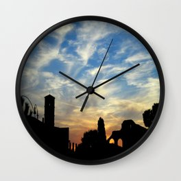 Sunset in Rome Wall Clock