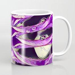 African Daisy in Manipulated Purple Coffee Mug