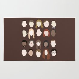 the office minimalist poster Rug