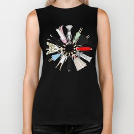 Audrey Hepburn Fashion (Scattered) Biker Tank